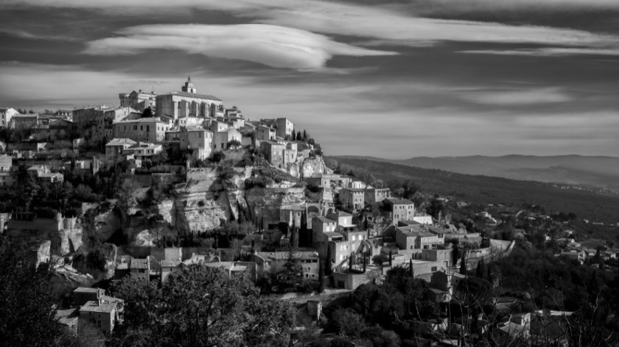 Gordes, a small village and a must see if you visit Provence 35mm, red filter