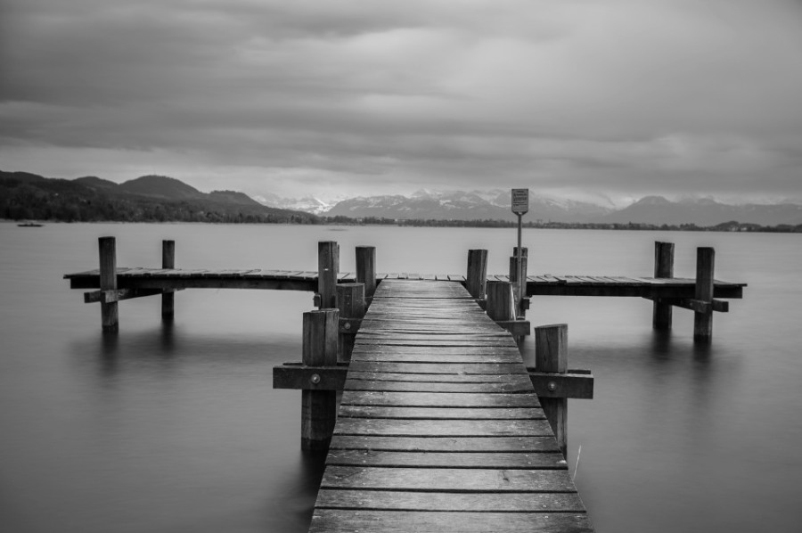 Lake Pfäffikon, Switzerland., Taken on a workshop with Mike Brown Leica Monochrom, 35mm,  8 Second Exposure